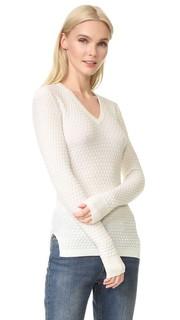 Текстурированный свитер с V-образным вырезом Novis
