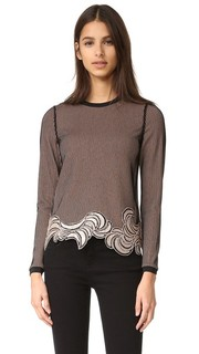 Long Sleeve Embroidered Crop Top 3.1 Phillip Lim