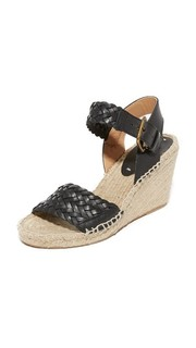 Woven Leather Wedge Espadrilles Soludos