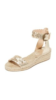 Woven Leather Demi Wedges Soludos