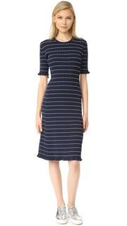 Платье с оборчатой отделкой Victoria Victoria Beckham
