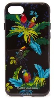 Чехол для iPhone 7 с попугаями Marc Jacobs