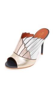 Туфли без задников Donna с открытым мыском Malone Souliers