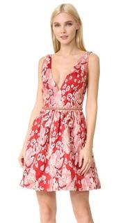 Коктейльное платье без рукавов с леопардовым рисунком Marchesa Notte