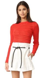 Связанный крючком пуловер с длинными рукавами 3.1 Phillip Lim