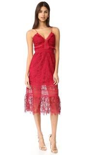 Миди-платье Blush с цветочным рисунком Self Portrait