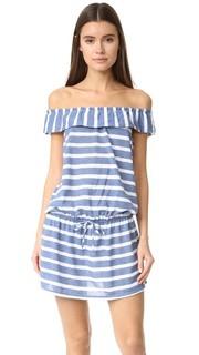 Платье в полоску с открытыми плечами Splendid