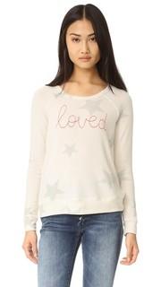 Пуловер со звездами и надписью «Loved» Sundry