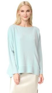 Кашемировый свитер с разрезом на вырезе TSE Cashmere