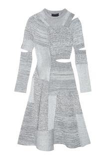 Трикотажное платье с разрезами Proenza Schouler