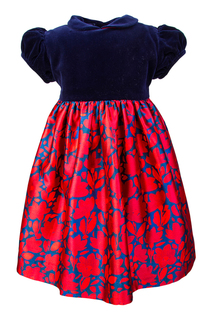 Платье из шелка и хлопка Oscar de la Renta Children