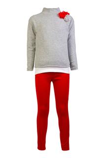 Комплект из джемпера, футболки и брюк il Gufo