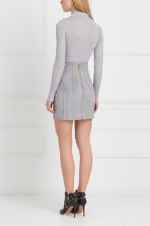 Замшевая юбка Balmain