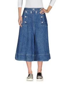 Джинсовые брюки-капри Sacai
