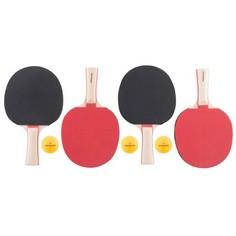 Набор Для Игры В Настольный Теннис: 4 Ракетки И 3 Мяча Artengo