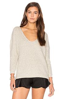 Меланжевый свитер с v-образным вырезом - Callahan