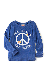 Футболка pick flowers not fights - Junk Food