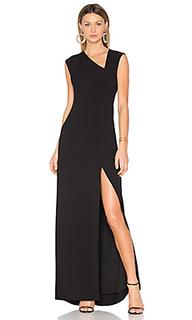 Вечернее платье с асимметричным подолом - Halston Heritage