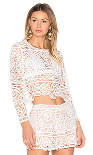 Blackjack embroidered cropped blouse - aijek