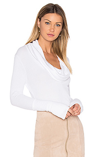 Modal thermal cowl neck long sleeve top - Bobi