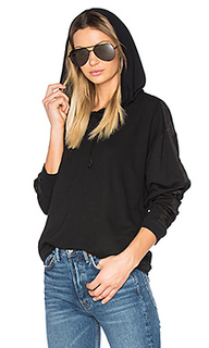 Moto satin trim hoodie - Project Social T