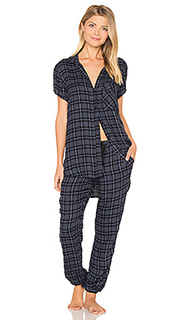 Margeaux plaid jogger pj set - Bella Dahl