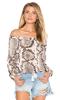 Marabella cropped peasant top - vitamin A