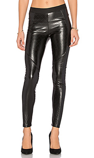Quilted vegan leather legging - David Lerner