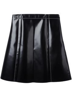 юбка А-силуэта с вощеным покрытием Proenza Schouler