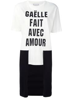футболка с контрастным асимметричным подолом Gaelle Bonheur