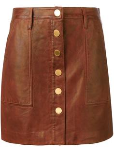 кожаная юбка на кнопках Michael Michael Kors