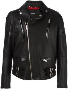 байкерская куртка с заплатками в виде звезд Diesel