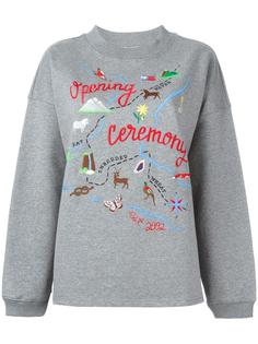 map embroidery sweatshirt Opening Ceremony