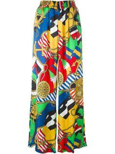 широкие брюки с принтом карабельных принадлежностей Love Moschino