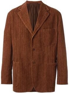 бархатный пиджак с застежкой на пуговицы Romeo Gigli Vintage
