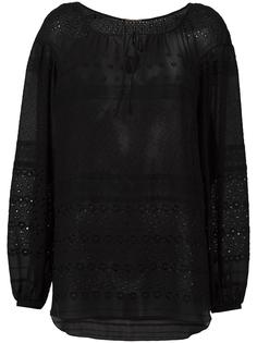 блузка с открытой вышивкой Saint Laurent