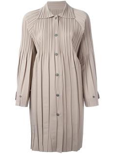 плиссированное пальто Pleats Please By Issey Miyake