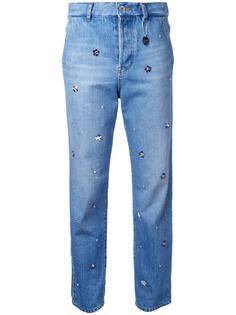 декорированные джинсы бойфренды Muveil