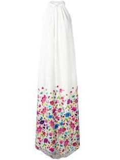 floral print halterneck dress Oscar de la Renta