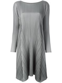 плиссированное платье с асимметричным подолом Pleats Please By Issey Miyake