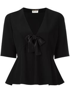 блузка с V-образным вырезом Saint Laurent