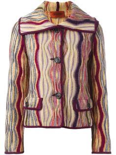 полосатый пиджак с волнистым узором Missoni Vintage