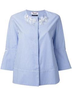 полосатая рубашка без воротника Muveil