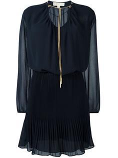 платье с плиссированным подолом Michael Michael Kors
