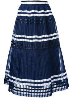 плиссированная полосатая юбка Muveil