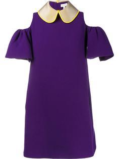 мини-платье с вырезами на плечах Delpozo