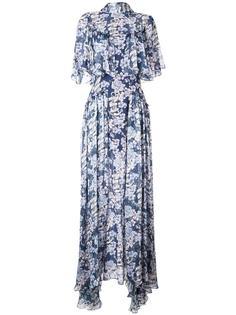 длинное платье с цветочным принтом Temperley London