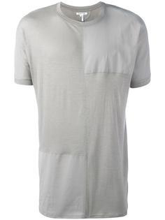 футболка с панельным дизайном Helmut Lang