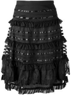 юбка А-силуэта с рюшами Temperley London