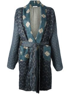 пальто-кимоно с панельным дизайном Ermanno Gallamini